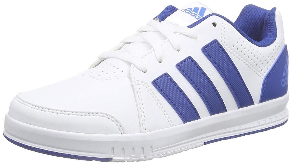 4f94e5d4936b1 ADIDAS LK Trainer 7K shoes boys or girls white royal blue stripe size US 5  EUC #fashion #clothing #shoes #accessories #kidsclothingshoesaccs  #unisexshoes ...