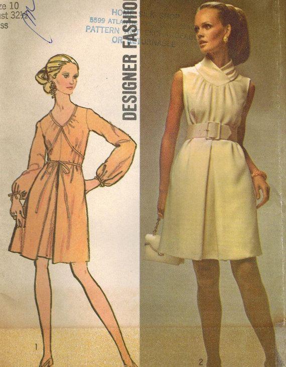 1960s Simplicity 8648 UNCUT Vintage Sewing Pattern Misses\' Designer ...