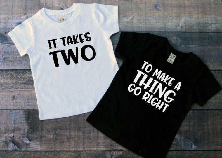 8fb46bba2a ... Twin baby shirts, 90s baby shirts, It takes two, Twin shirts for toddler,  Toddler shirts for twins, Hipster twin shirts by TheLittleReasons on Etsy