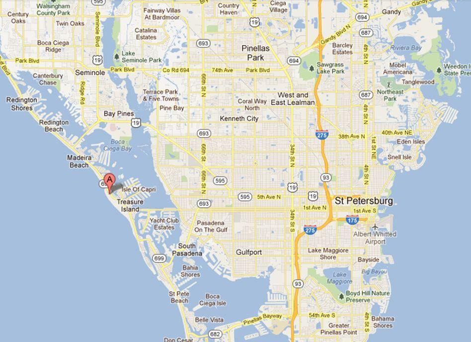Treasure Island Florida Map.Treasure Island Map Treasure Island Fl Treasure Island Island