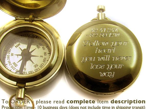 Confirmation Gift Engraved Compass Baptism Boy By Baptismgifts