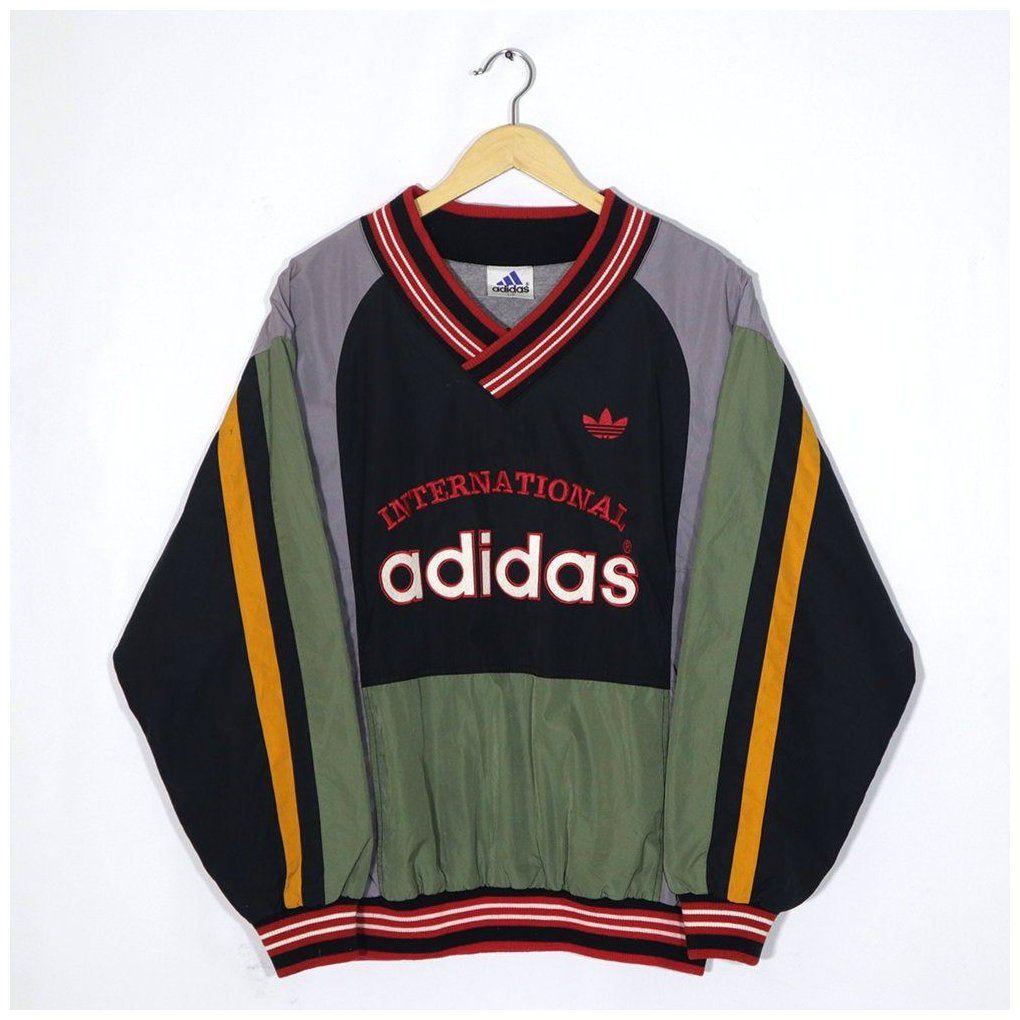 Adidas Vintage 90s Adidas International Sweatshirt Pullover Jumper Hip Hop Multi Color Block Size Fit L Larg In 2021 Vintage Sweatshirt Vintage Adidas Trendy Hoodies [ 1020 x 1020 Pixel ]