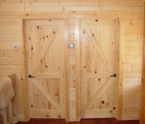 Rustic Interior Doors Rustic Interior Log Cabin Doors