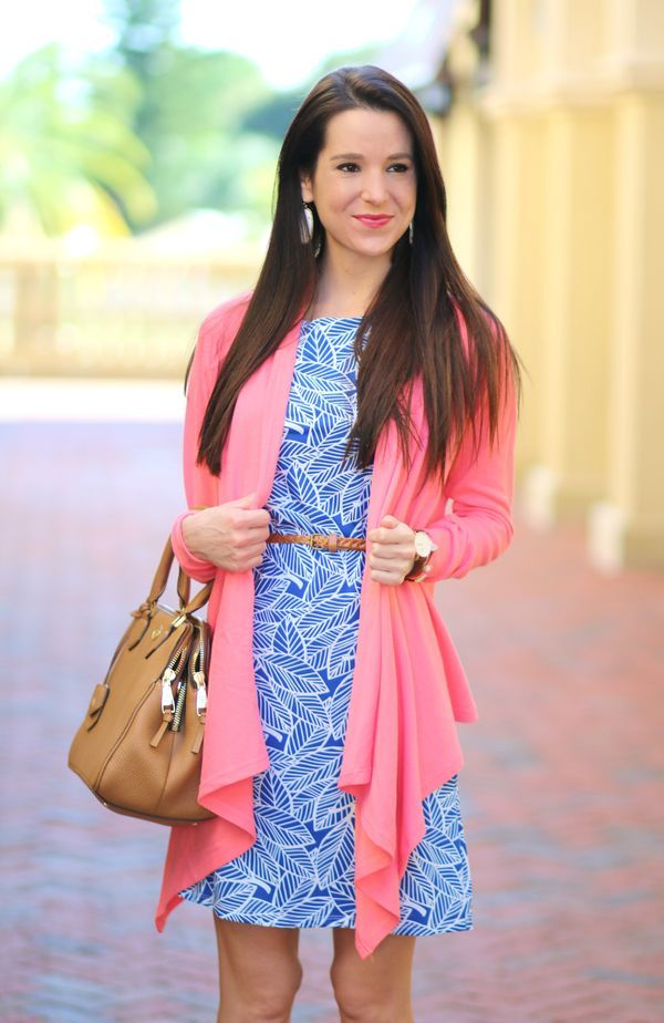 Floridian Fall Style: Coral Waterfall Cardigan | Coral cardigan ...
