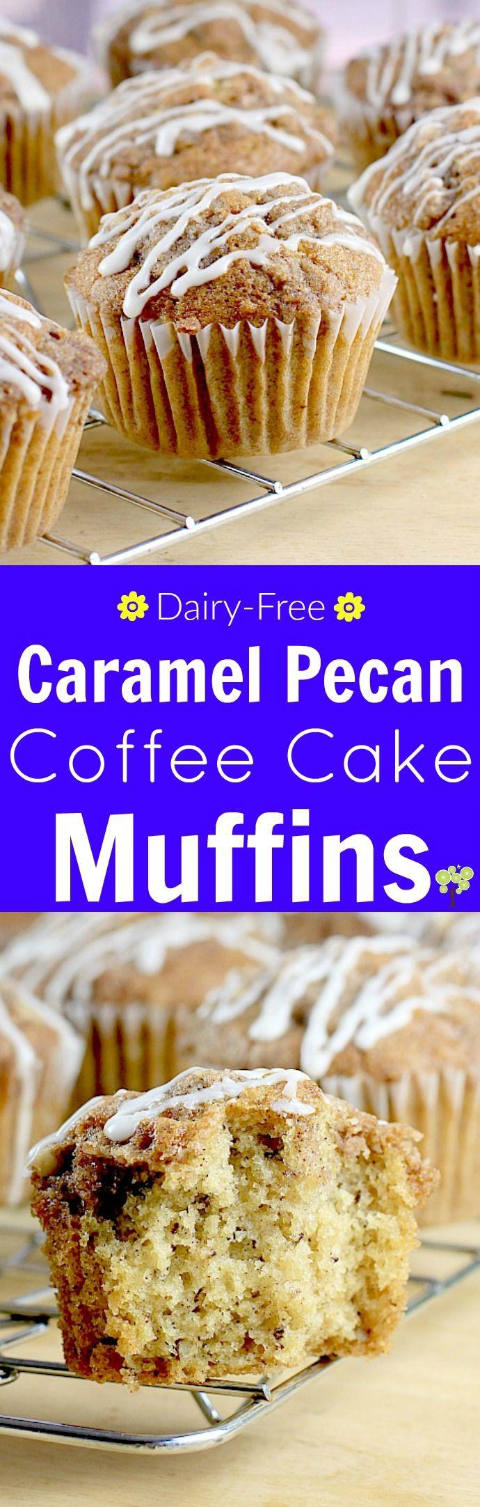 Caramel Pecan Coffee Cake Muffins (DairyFree) http//wp