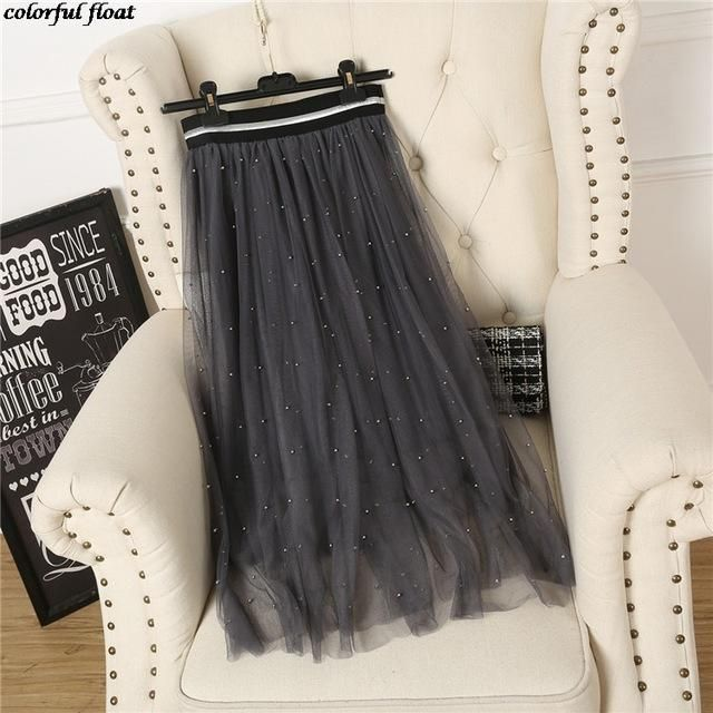 b6e4869236 Dingzhuang Net Yarn Skirt | Products | Skirts, Cotton dresses, Ballerina