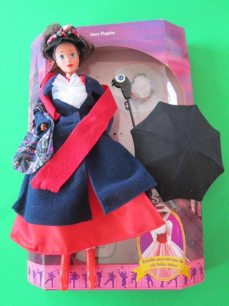 1993 Disney Excl. Mattel MARY POPPINS Barbie Doll w/ Reversible
