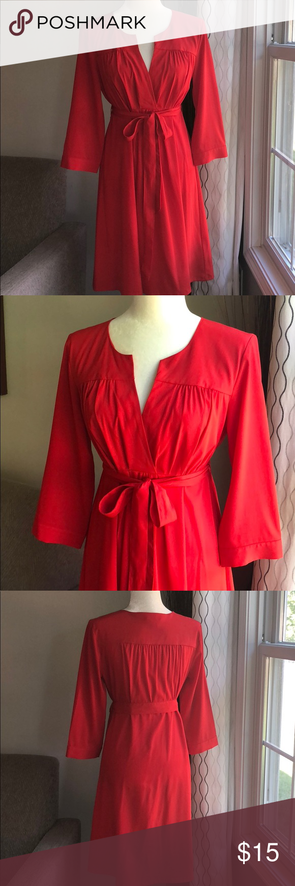 Hum red empire waist dress size my posh closet pinterest