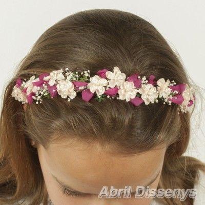 Diademas de Flores Fucsia para Niñas