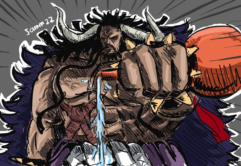 if its one on one, kaido will win (drinking battle) :D ...