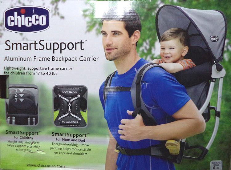 Chicco Graphite Smart Support Backpack Child Carrier For