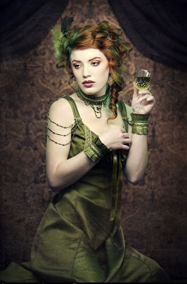 The Green Fairy - Arm beading / shoulder jewelry  sc 1 st  Pinterest & green absenth fairy? | Absinthe | Pinterest | Green fairy Fairy and ...