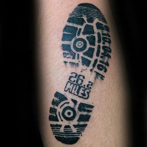 40 Running Tattoos For Men - Ink Design Ideas In Motion