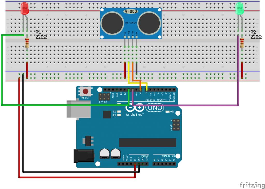 Light a Bulb With Arduino Ultrasonic Sensor HC-SR04 | Pinterest ...
