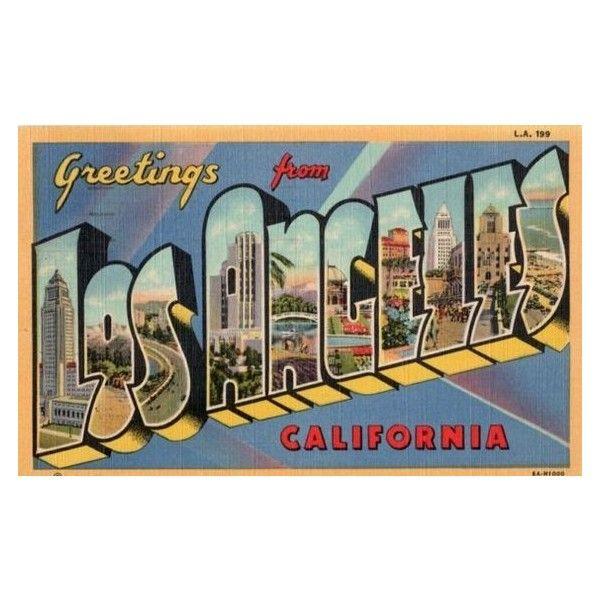 Vintage California Postcard Greetings From Los Angeles 1950 ❤ liked ...