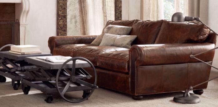 Black Leather Couch Restoration Hardware #homedecor #homedecorideas