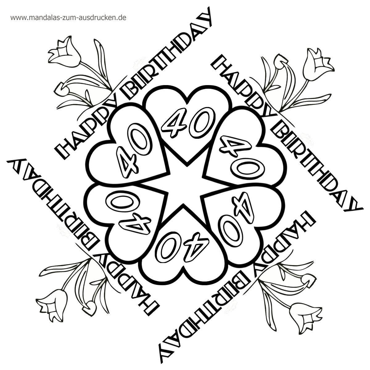Ausmalbilder Geburtstag Luftballons : Mandala Free Malvorlage Geburtstag Zum Download Birthday