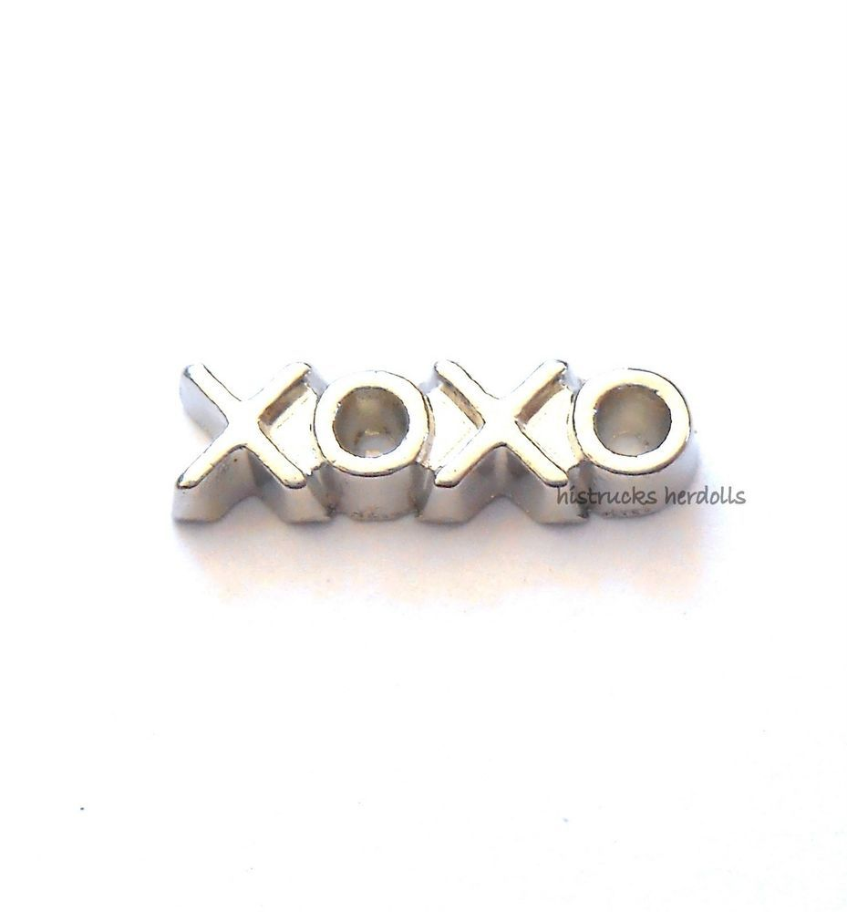 1 pc XOXO Love  Alloy Metal Floating Charm for Memory Glass Lockets  LT1