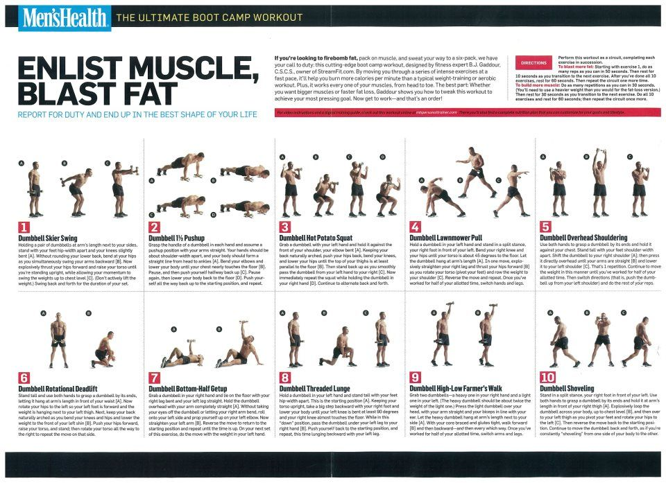 Home Workout Plan For Men this one requires some dumbbells. it's writtena colleague, bj