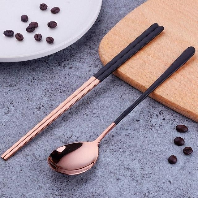 Wooden Spoon and Chopstick Set Long Cooking Spoon and Long Cooking Chopstick