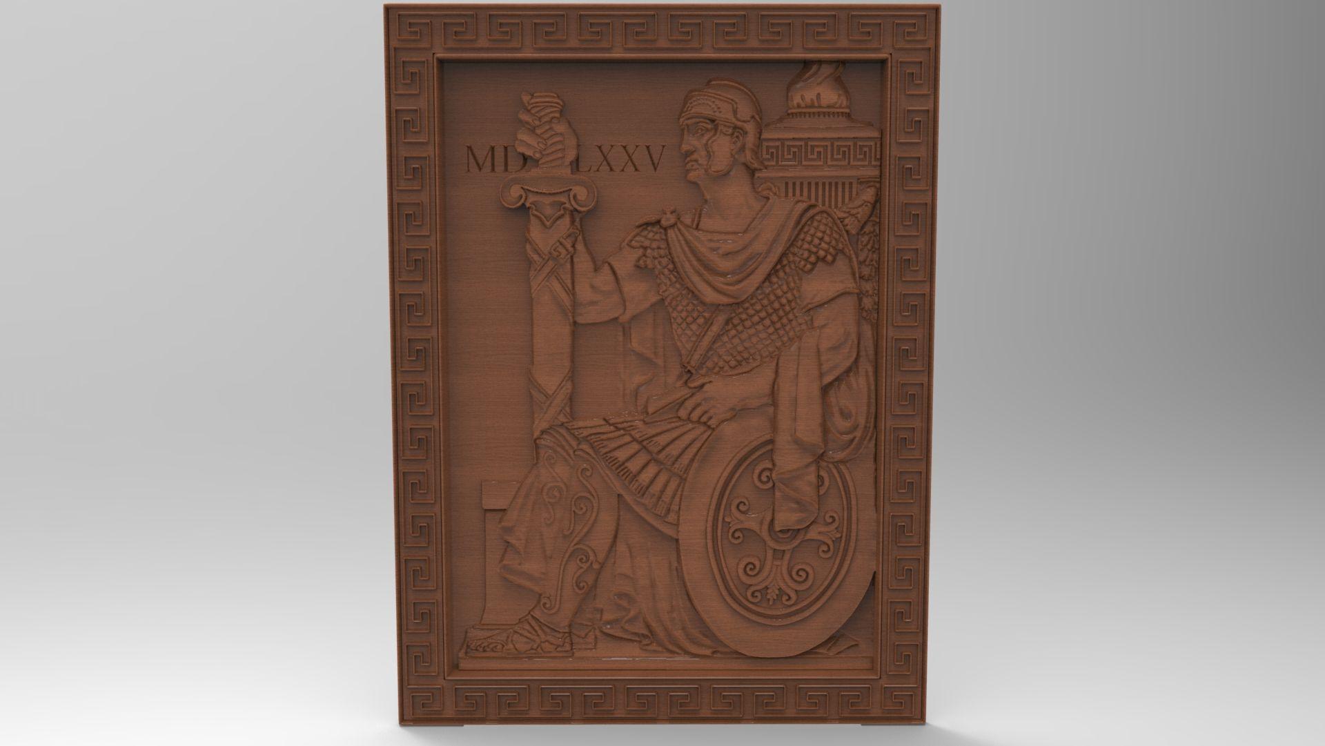 Roman Warrior relief