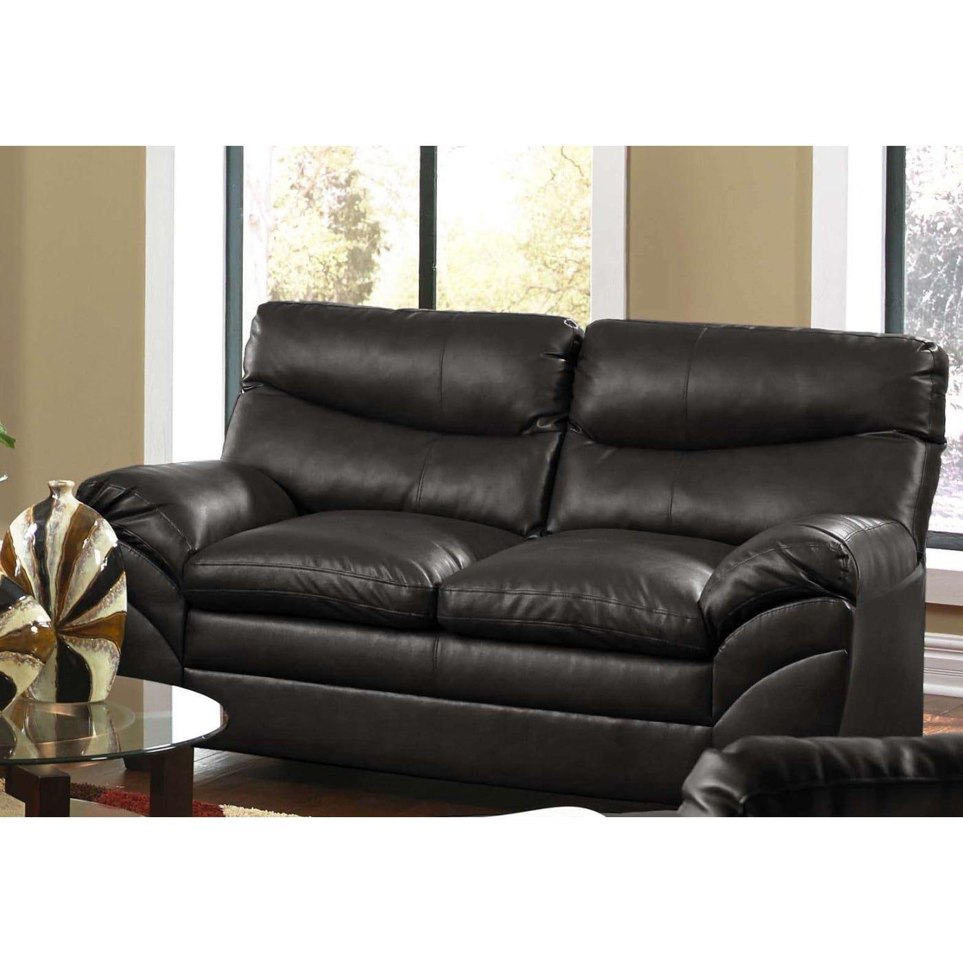 Simmons Upholstery 9515 02 Soho Onyx Leather Loveseat Buy