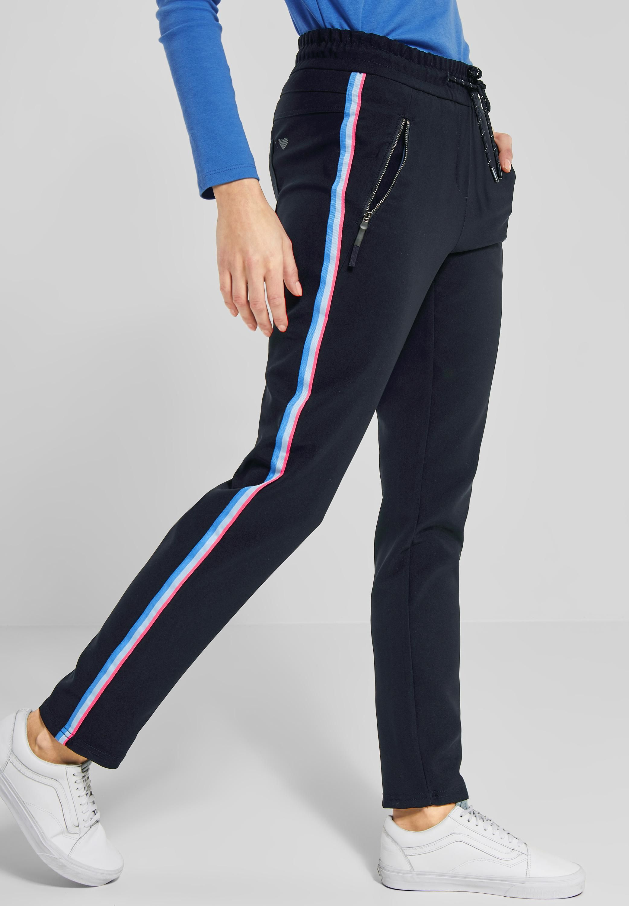 elegant shoes new design cheapest price CECIL - Casual Fit Joggpants Tracey in Deep Blue | CONCEPT ...