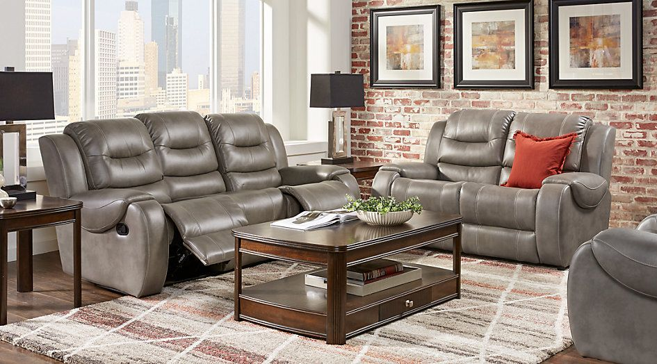 Terrific Baycliffe Smoke 3 Pc Living Room With Reclining Sofa First Gmtry Best Dining Table And Chair Ideas Images Gmtryco