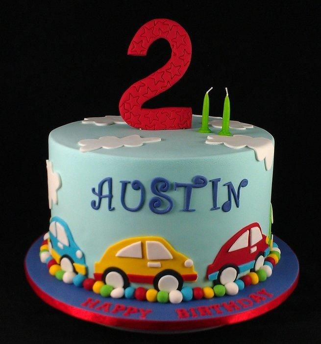 Car Themed Cake 2nd Birthday