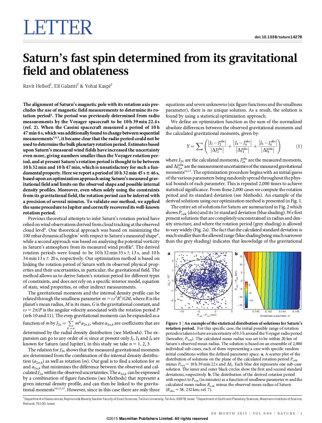Saturns fast spin_determined_from_its_gravitational_field_and_oblateness by Sérgio Sacani via slideshare