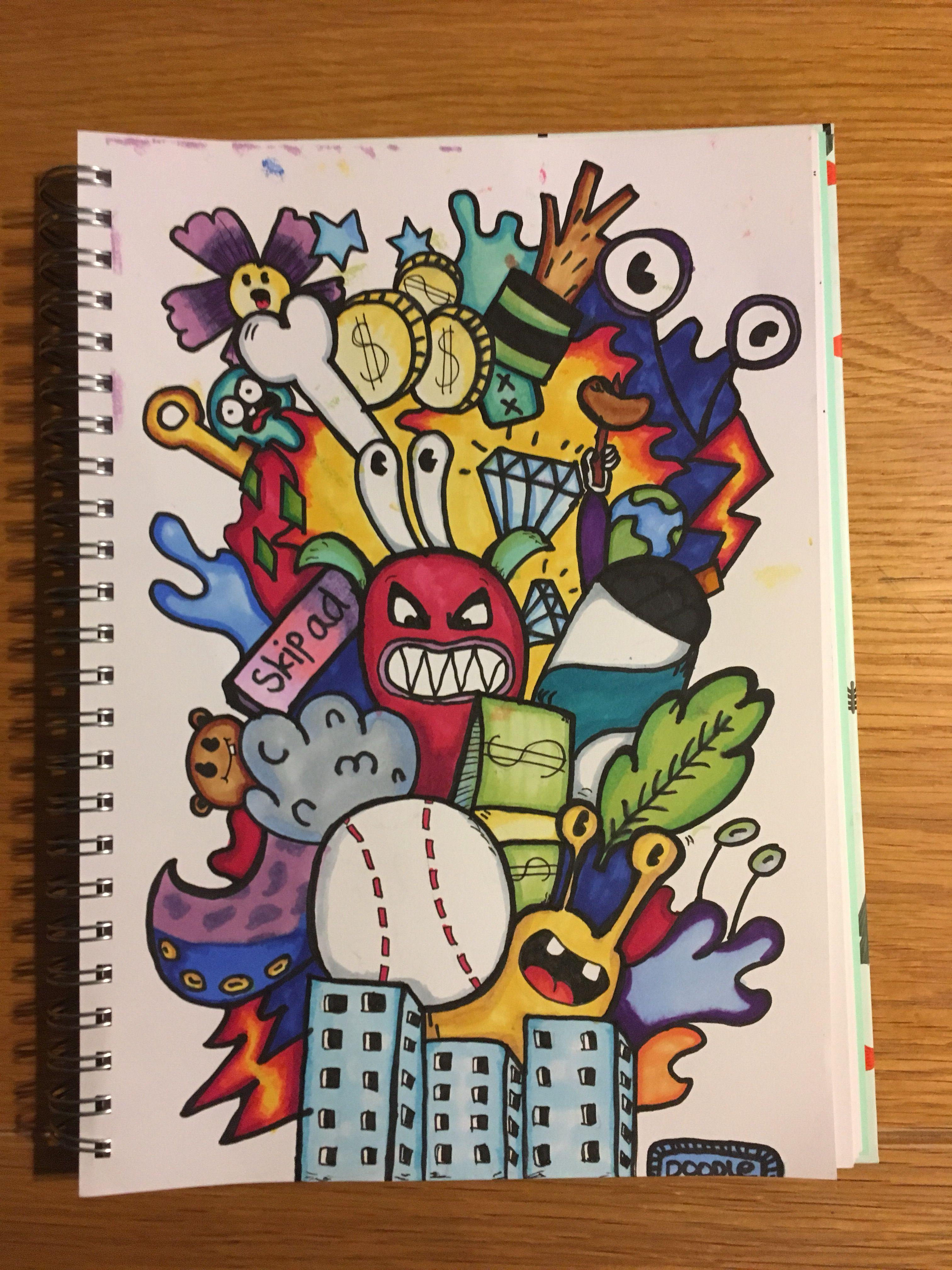 I Colored It Doodle Art Designs Doodle Art Drawing Graffiti Doodles