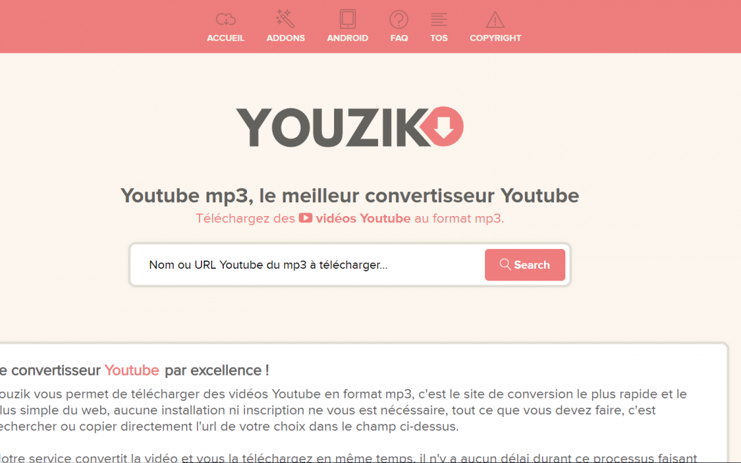 Youzik est un convertisseur Youtube MP3 qui vous permet de ... on