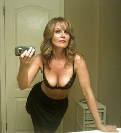 Hot nature milf selfie