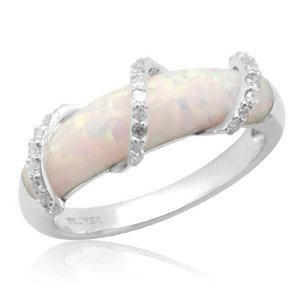 opal ring my birthstone excellent setting for an opal they are soft - Opal Wedding Ring Sets