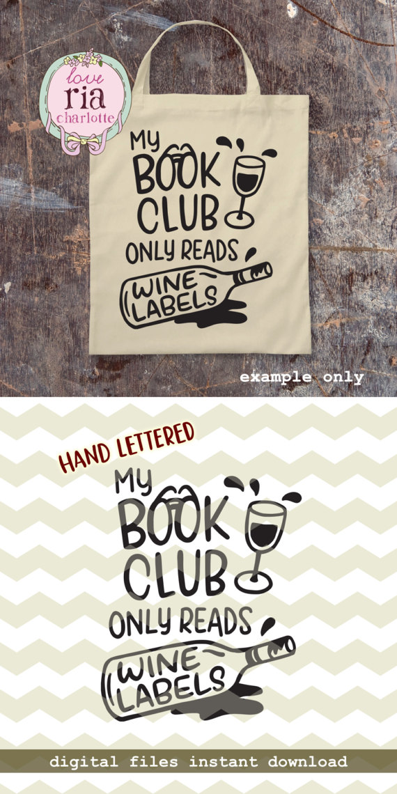 Book Club Reads Wine Labels Fun Funny Quirky Wine Lover