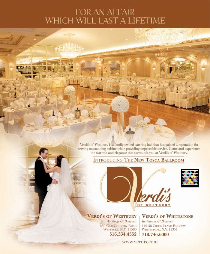 Wedding Ceremony And Reception In Same Location: Verdi's Of Westbury, For An Affair Which Will Last A