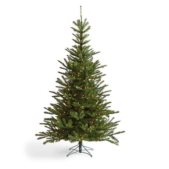 Pre Lit Noble Fir Artificial Christmas Tree Grandin Road Realistic Christmas Trees Fir Christmas Tree Christmas Tree