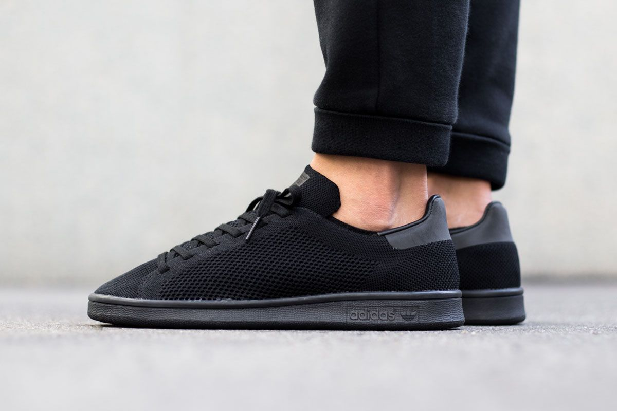 check out 64f56 34ad1 adidas Stan Smith Primeknit Triple Black