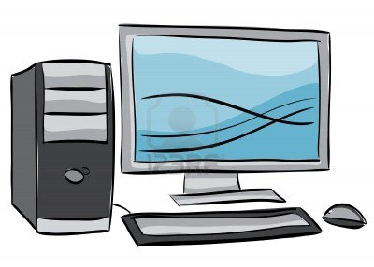 Illustration Of Desktop Computer Isolated On White Background Desktop Computers Output Device Computer