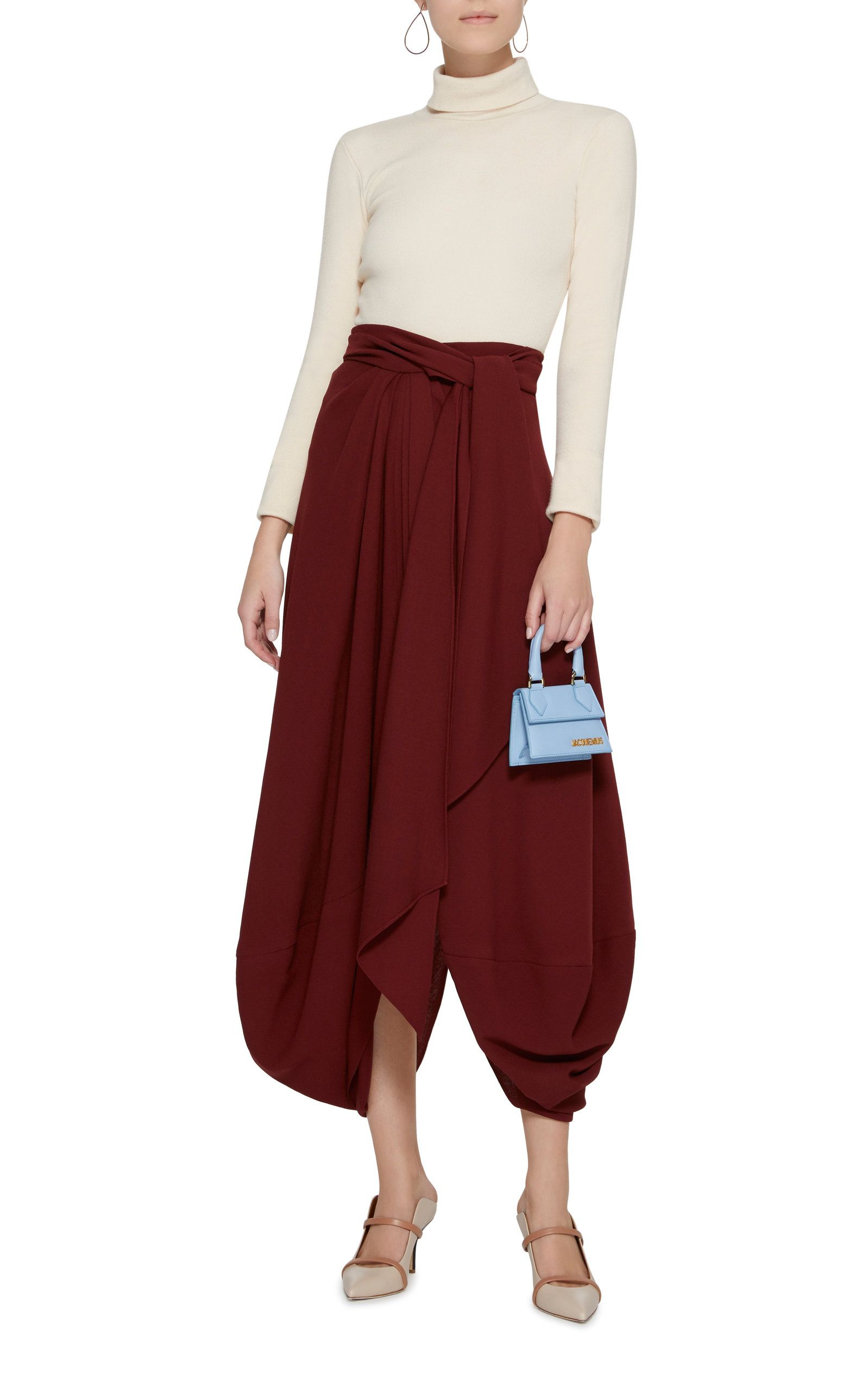 0c3ca2f22 Souela Draped Wool Midi Skirt by JACQUEMUS Now Available on Moda Operandi