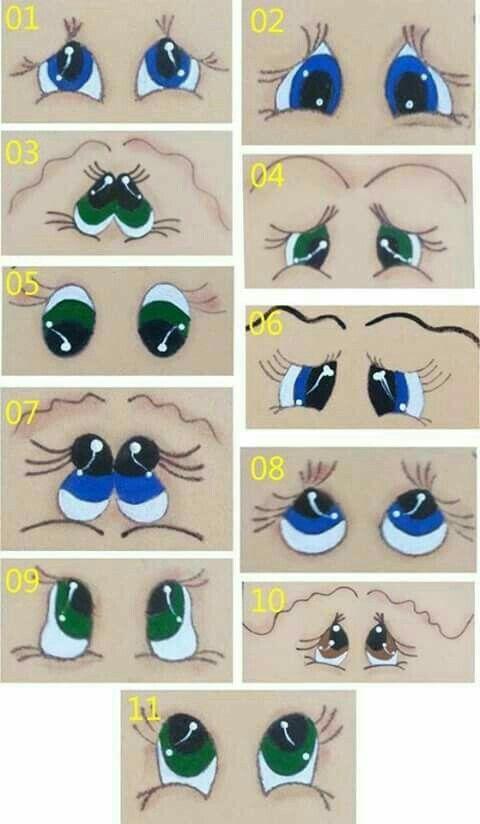 Olilhos Os Olhos Da Boneca Modelo Do Rosto Artesanato De Potes