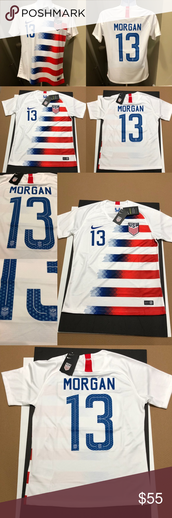 new product 3179e 26d2d ⚽️ 🇺🇸 Nike Jersey Alex Morgan #13 Soccer USWNT 2019 ...