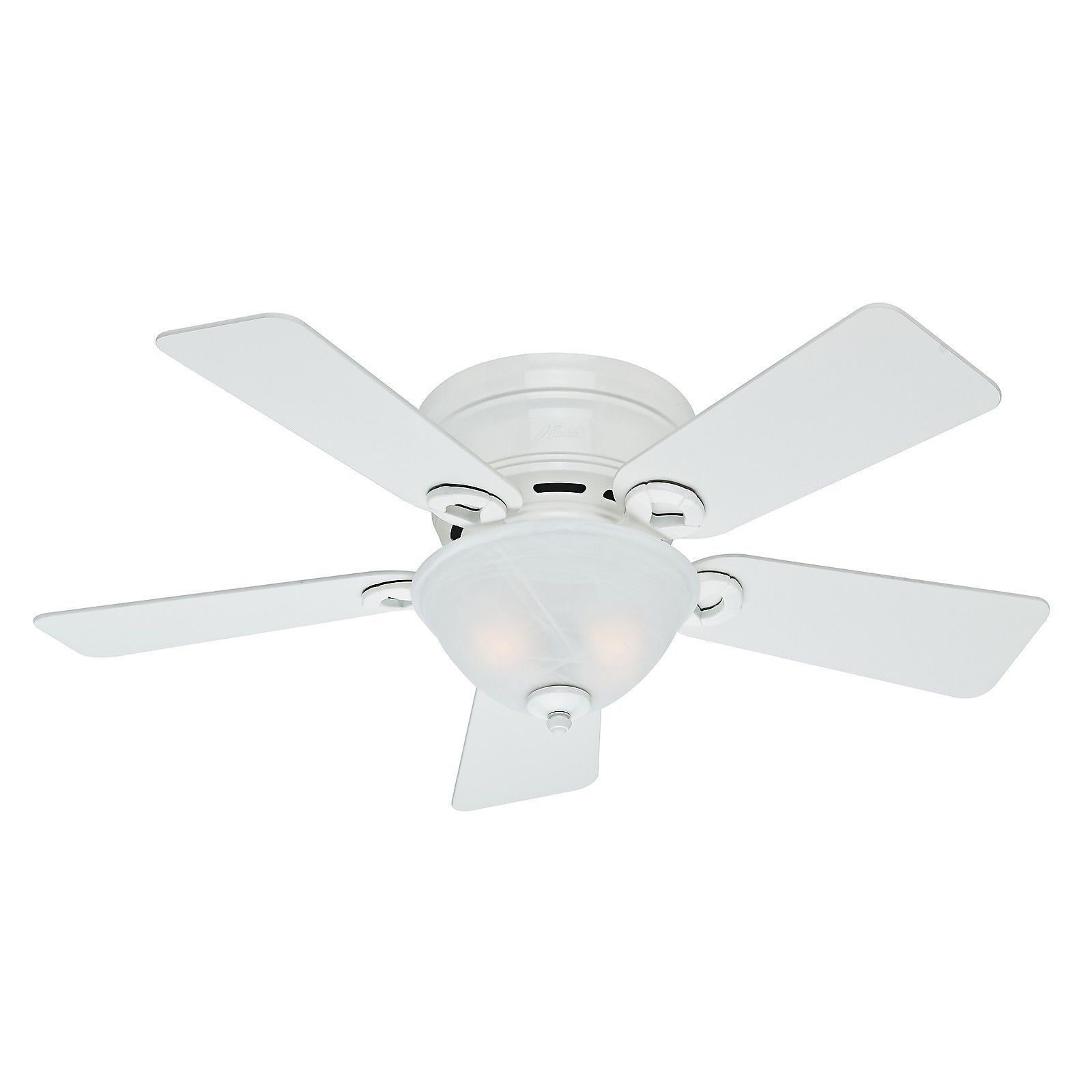 Low Profile Ceiling Fan With Light White
