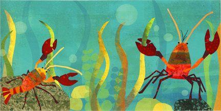 Amy Schimler - love her illustrations!  Crayfish by redfishcircle on Etsy, $25.00