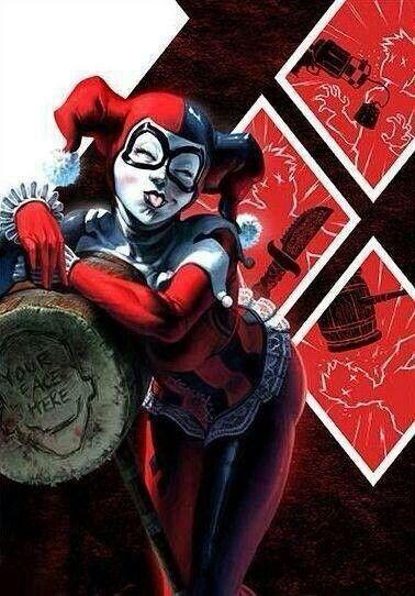 """Harley Quinn, Joker, and Batman Fan Art by Fabian """"Monk"""" Schlaga"""