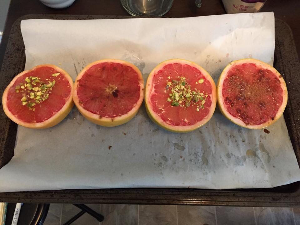 Broiled Grapefruit Breakfast: recipe in Sexy Delicious Healthy: the cookbook