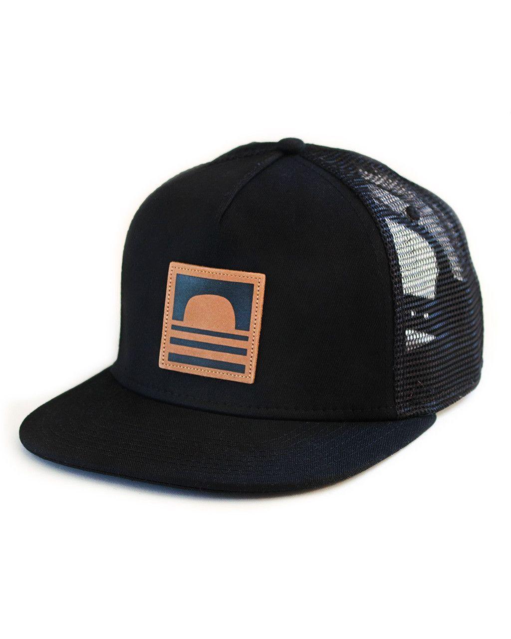 Sundance Beach Leather Logo Snapback Trucker Hat Black Lapos Peremű  Baseballsapka 49a672c64e