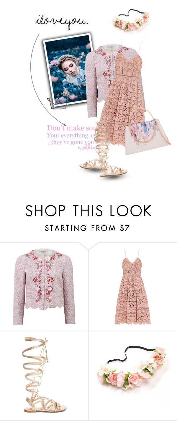 """""""floral"""" by chessecake4ever ❤ liked on Polyvore featuring Giambattista Valli, self-portrait, Gianvito Rossi and Ted Baker"""