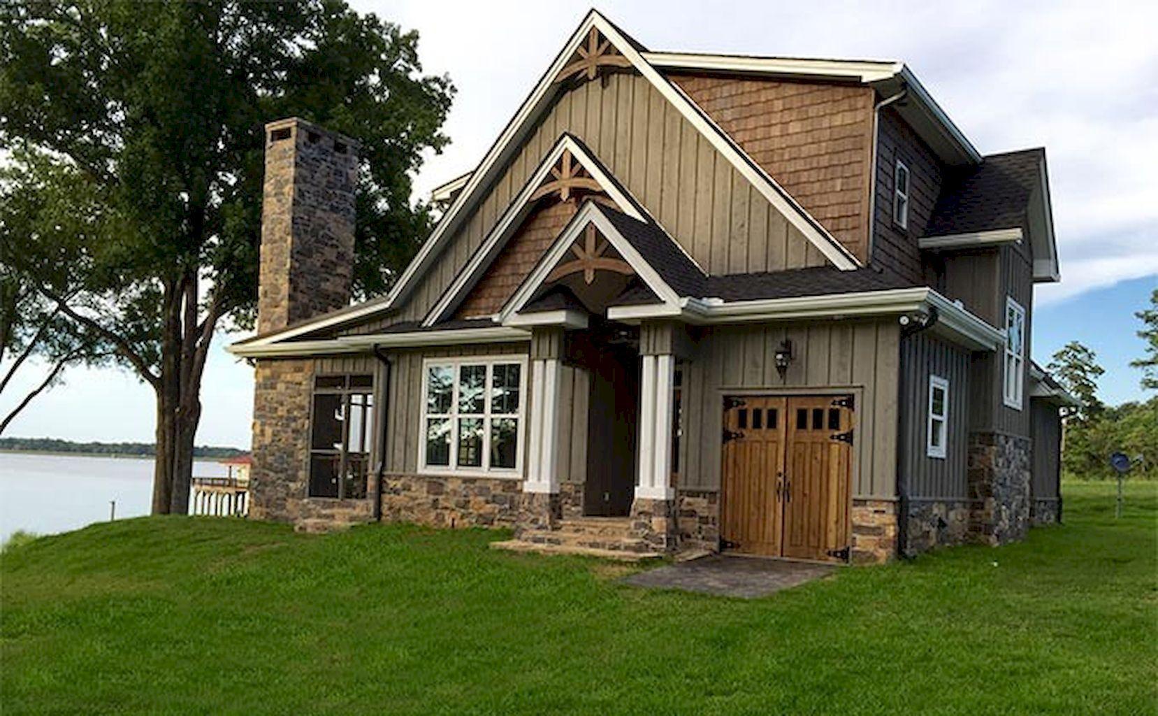 House · Gorgeous 65 Beautiful Lake House Exterior Design Ideas ... Home Design Ideas