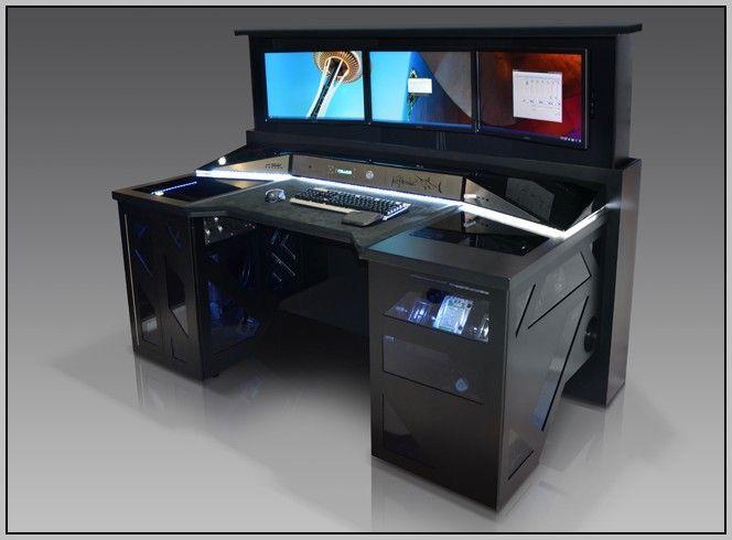 DIY Computer Desk Ideas That Make More Spirit Work  DIY Furniture Ideas  Gaming computer desk